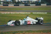 BAR HONDA 002. Patrick Lamarie, at speed during Silverstone Test 2000. Photo